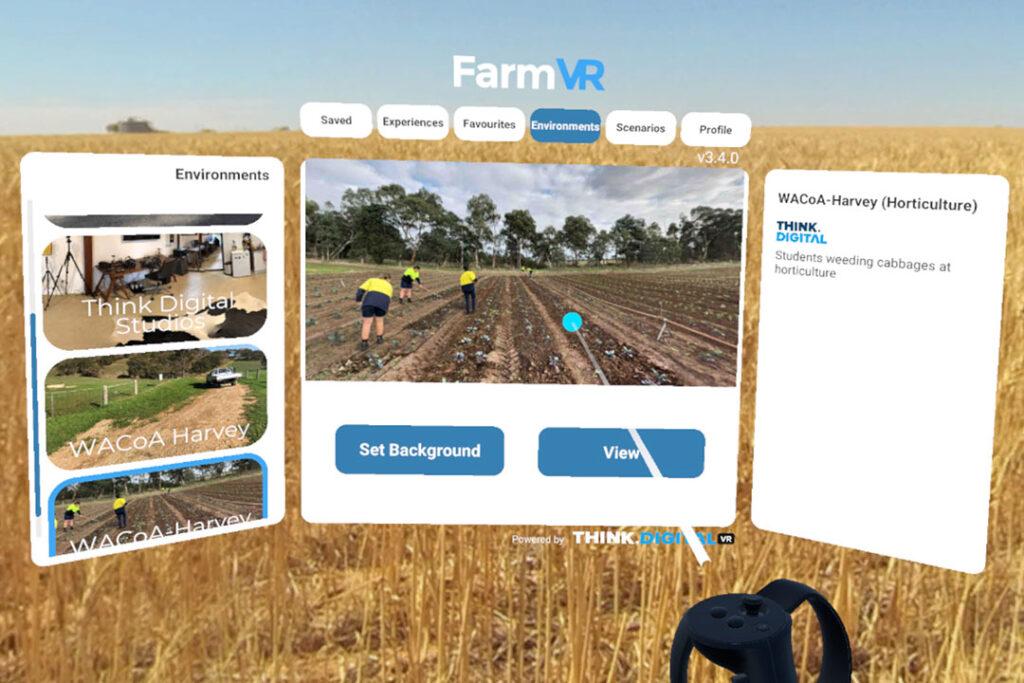 Custom VR & AR Apps FarmVR app