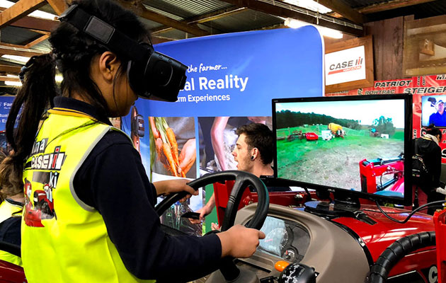 Girl using VR at the Royal Easter show