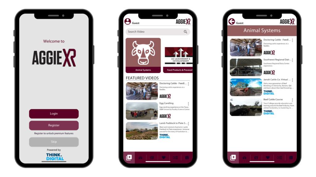 Think Digital Custom VR & AR Apps AggieXR Screenshots