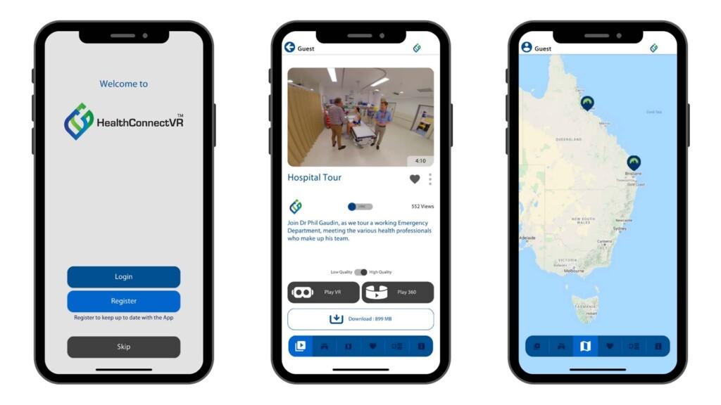 Think Digital Custom VR & AR Apps HealthConnectVR Screenshots