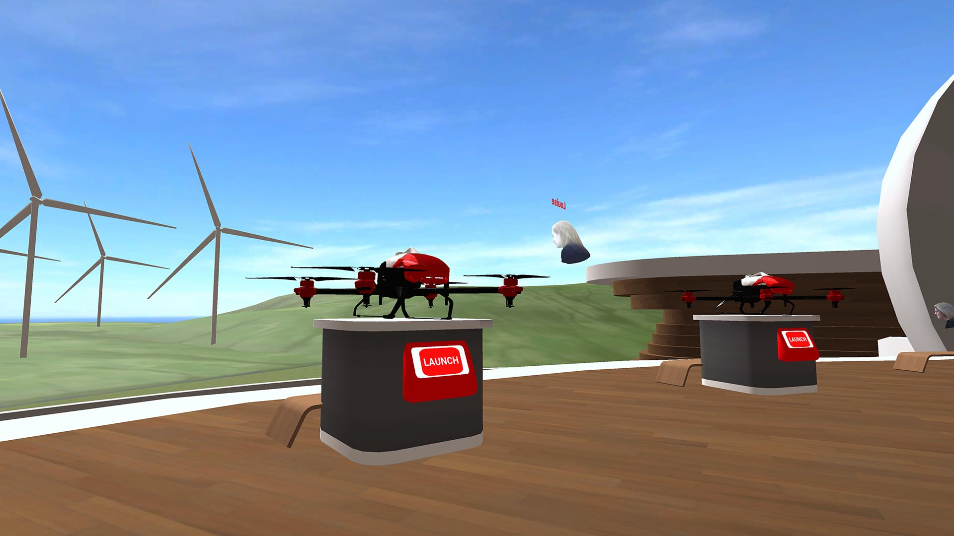 XAG drone flying experience in AAC VR Virtual Campus Environment for STEMCONNECT2020
