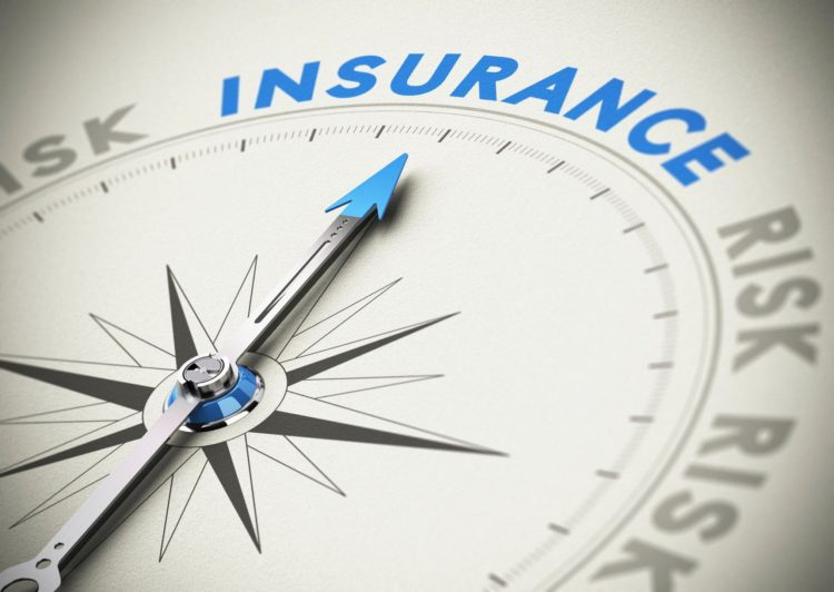 """Compass arrow pointing to the word """"insurance."""""""