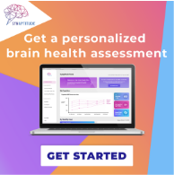 Get a personalized brain health assessment with Synaptitude. Identify your brain health risks across five areas including cognition, nutrition, sleep, stress, and exercise.