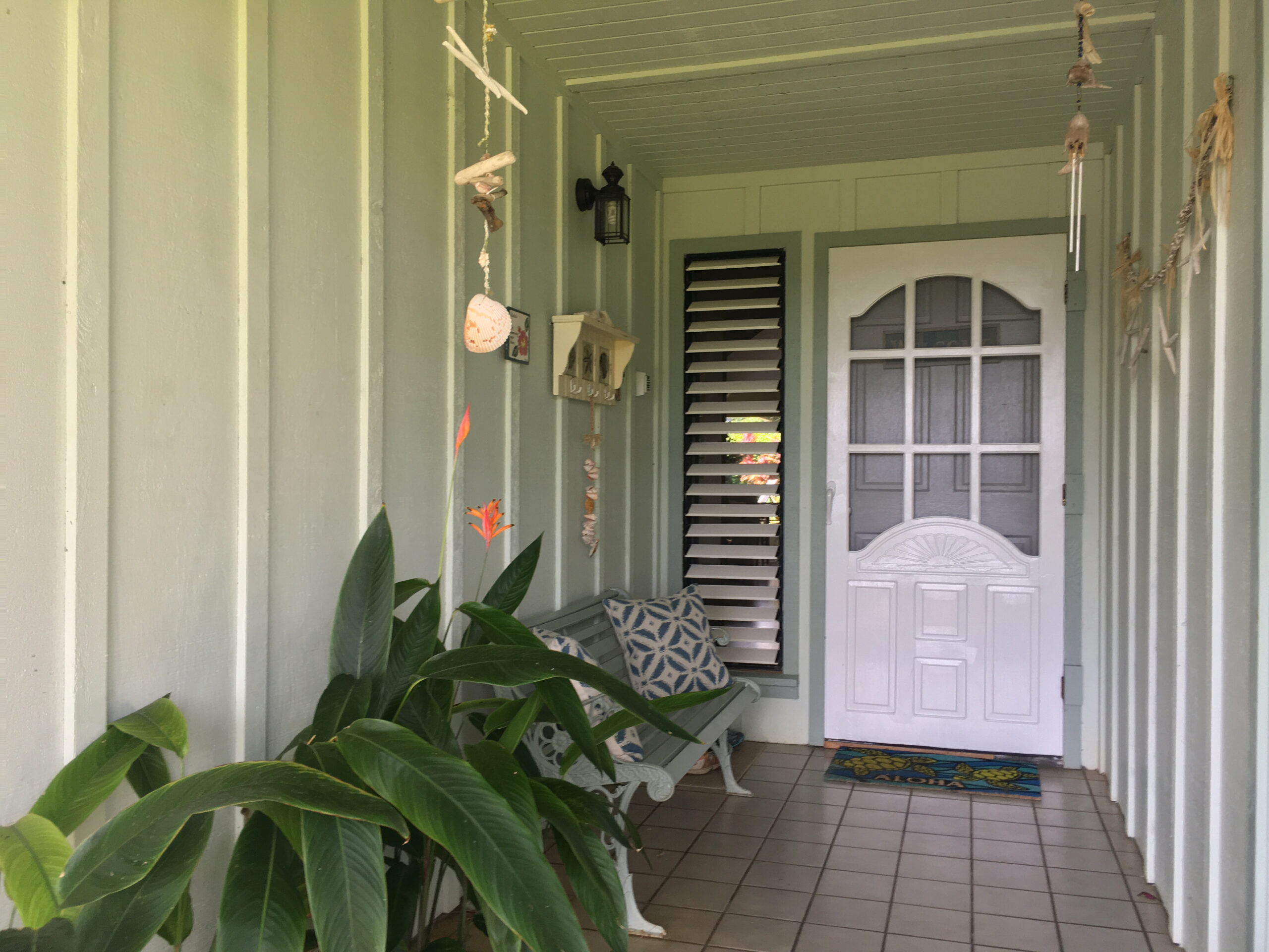 Front entry of Kauai Vacation Rental Home