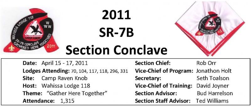 2011 SR7B Conclave Report