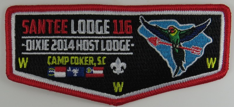 Santee Lodge 116 S43 Flap issued for Dixie Fellowship service