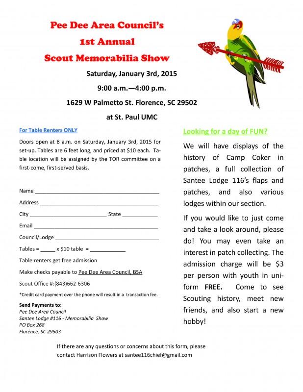 Scout Memorabilia Show 2015 Flyer Final Version