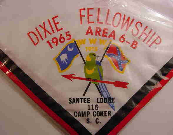 "1965 Dixie Staff Neckerchief - not the ""SANTEE LODGE 116"" that is missing from the regular issue."