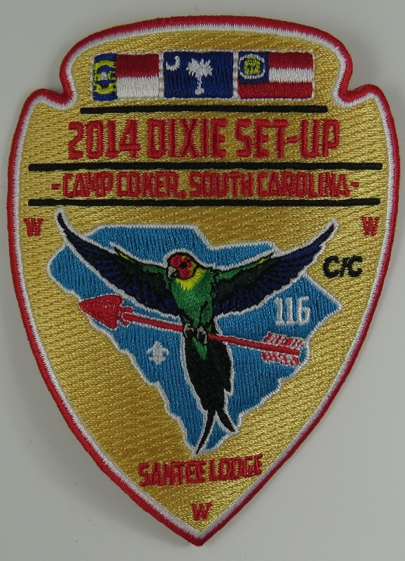 Santee Lodge 116 eA2014-3 Dixie Fellowship Set-up Patch