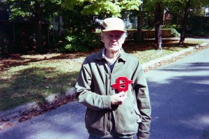 George C Gibbs, Lodge Chief 1938 Lodge 70, holding 70 C1, Sweater Monogram!