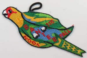 The 2001 Fall Fellowship Patch that became the bird on the Flap