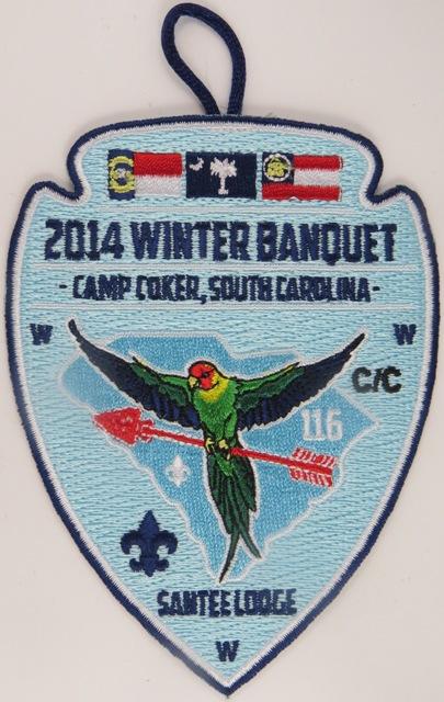 Santee Lodge 116 Winter Banquet 2014 Patch