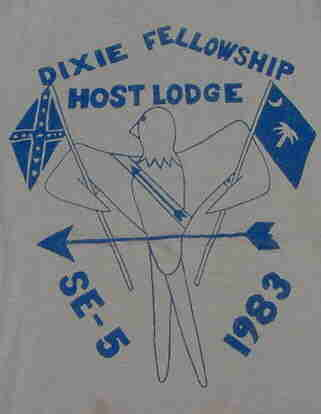 The 1983 Dixie Host Lodge t-shirt that I stole from my brother Chris