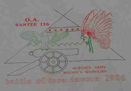 The week I got into the OA! 1986 OA Week - the Battle of Issa Tavora by Austin China and Woody Collins