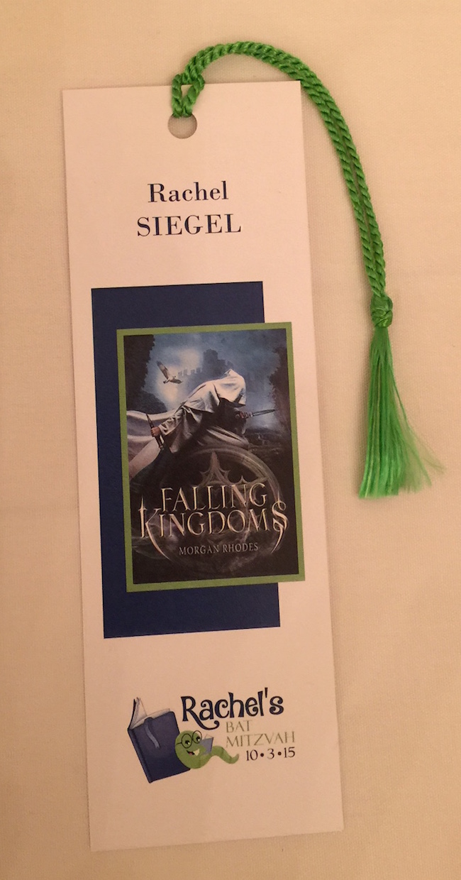 Bookmark Place Card for this Book Themed Party