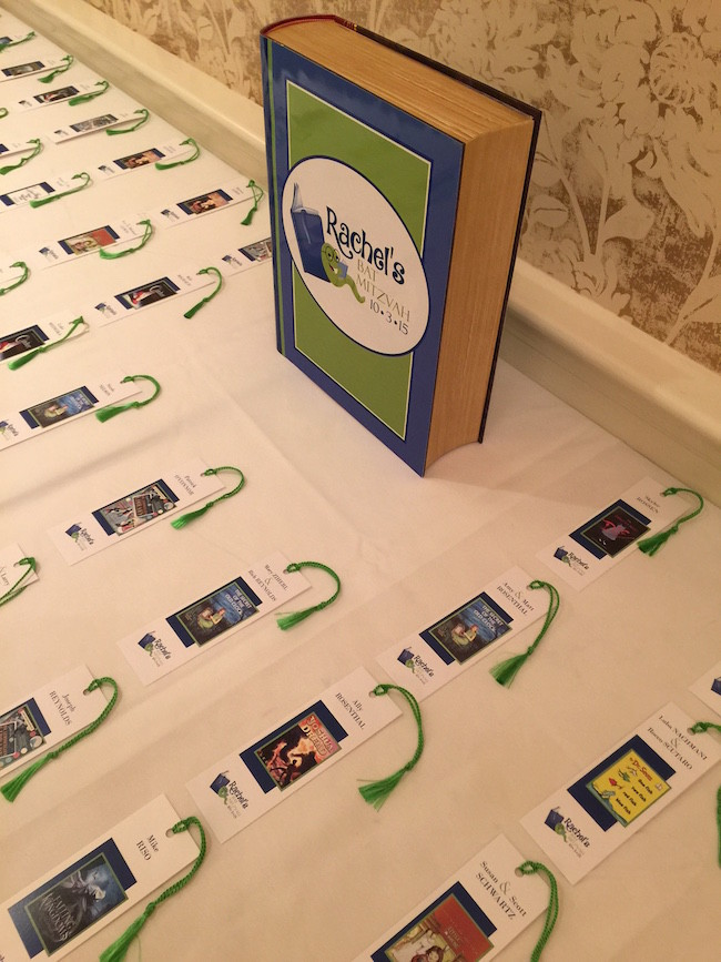 Bookmark Place Cards with Giant Logo Book