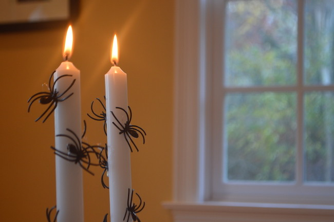 Halloween Spider Candles