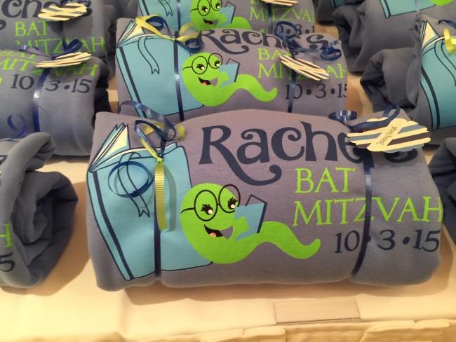 Logo on Sweatshirts for Book Themed Bat Mitzvah