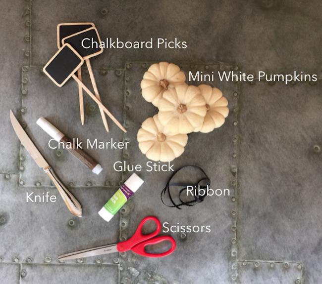 Mini White Pumpkin place card supplies