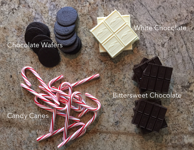 Ingredients for Candy Cane Bark