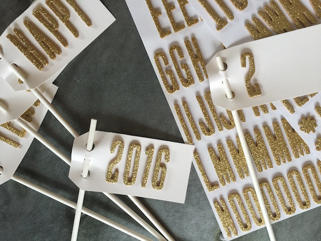 Label Tags with Glitter Stickers