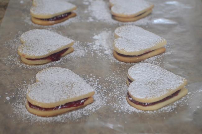 Heart-Shaped Sandwich Sugar Cookies