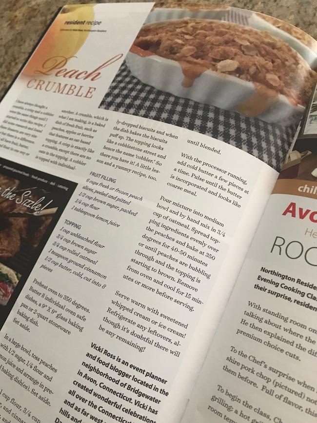Peach Crumble Recipe on Northington Living