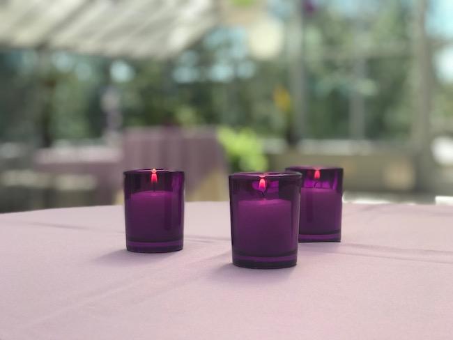Purple and Green Color Scheme Bat Mitzvah Party