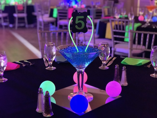 Glow-in-the-dark Themed Bar Mitzvah Party