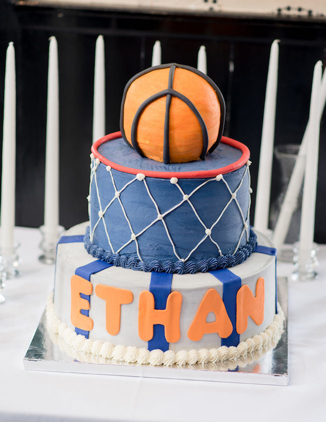 Basketball-themed Bar Mitzvah Party