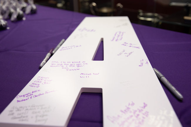 Allie's Purple and Silver Bat Mitzvah Party
