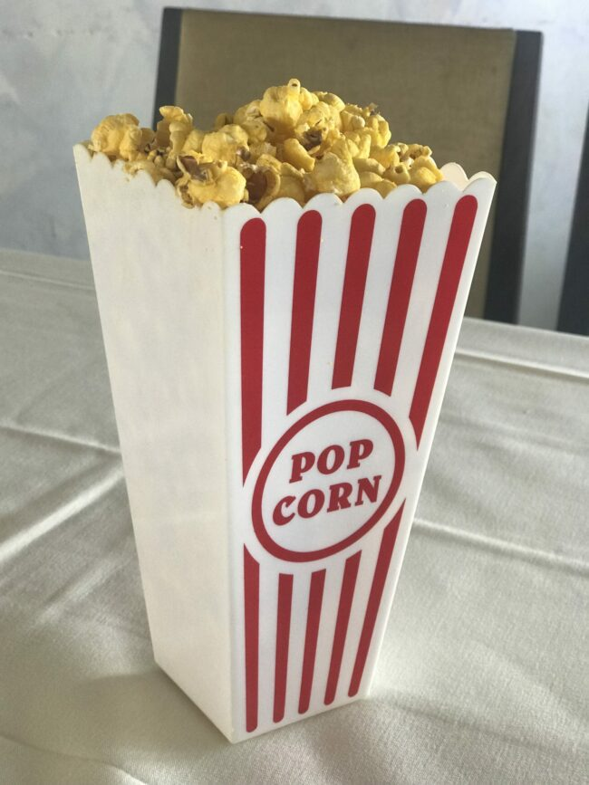 Popcorn appetizers for young adults