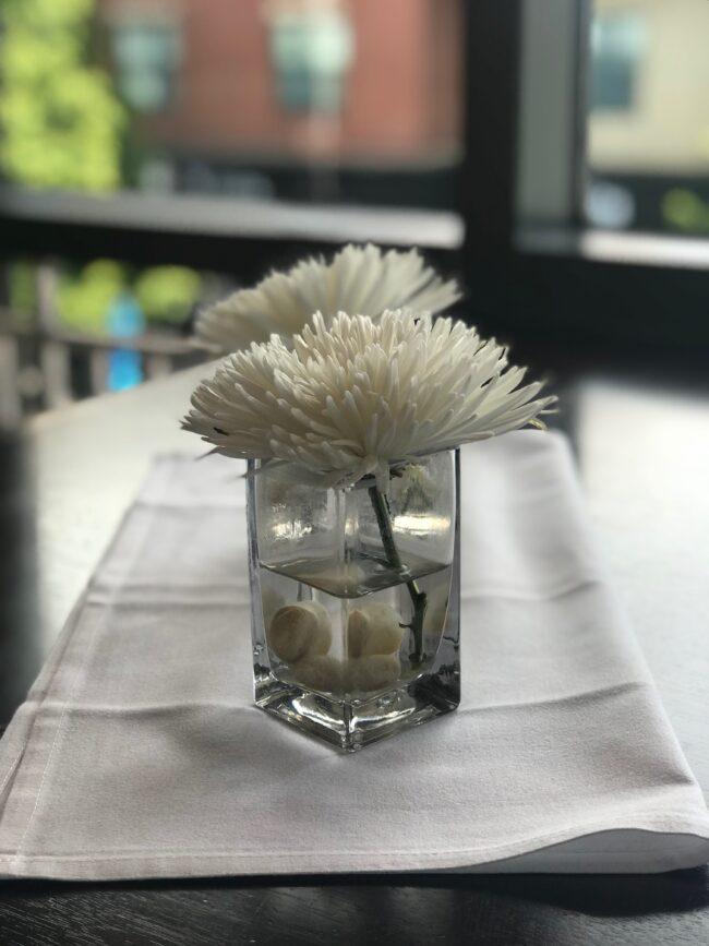 Cocktail table flower arrangements