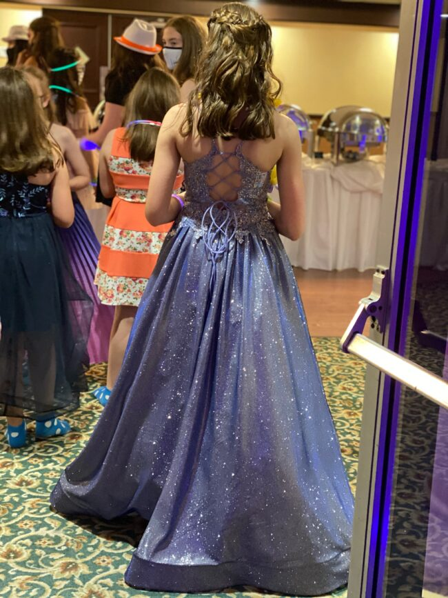 party dress from behind