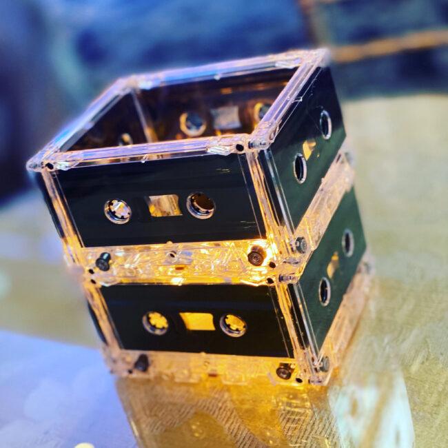 Cassette tape votives