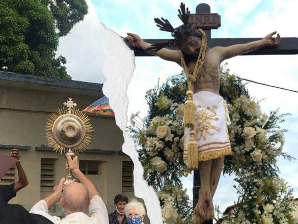 En 2021 el Cristo de la Salud paseó por el pueblo como nunca antes