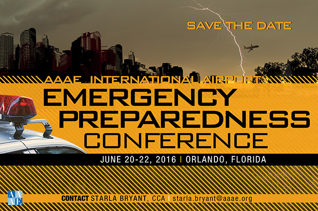 2016 Airport Emergency Preparedness Conference postcard