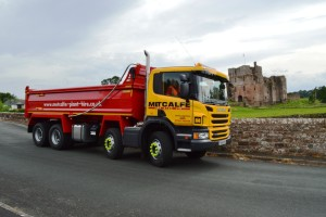 Scania Tipper Wagon at Brougham Castle