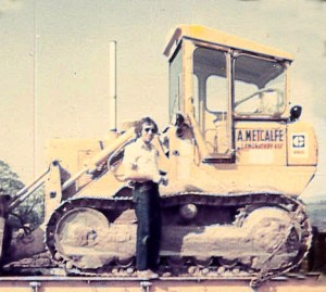 Metcalfe Plant Hire Old Photo of digger