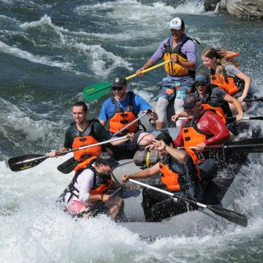 Some AV-ators, both past and present, got together to go white water rafting