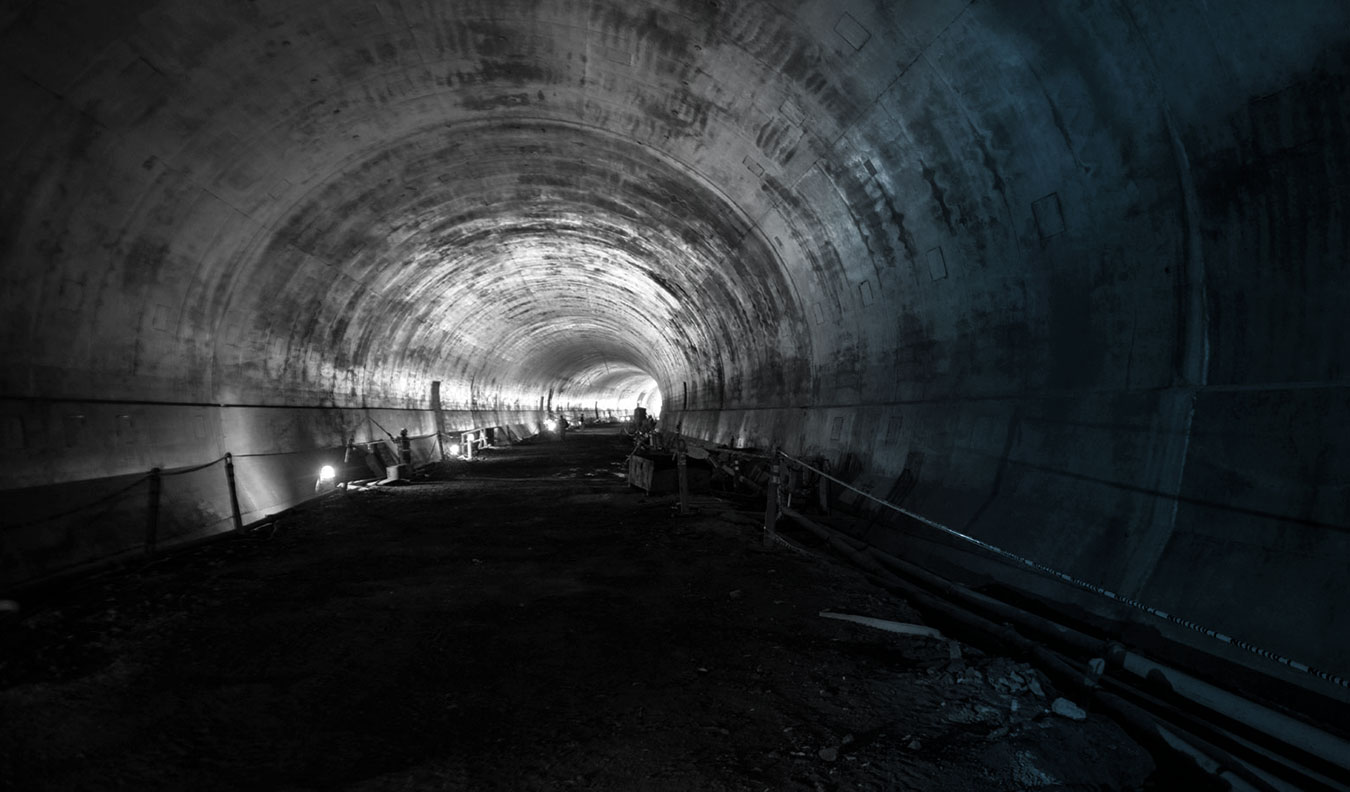 The interior of the Caldecottt Tunnel, one of Alta Vista's State DOT projects