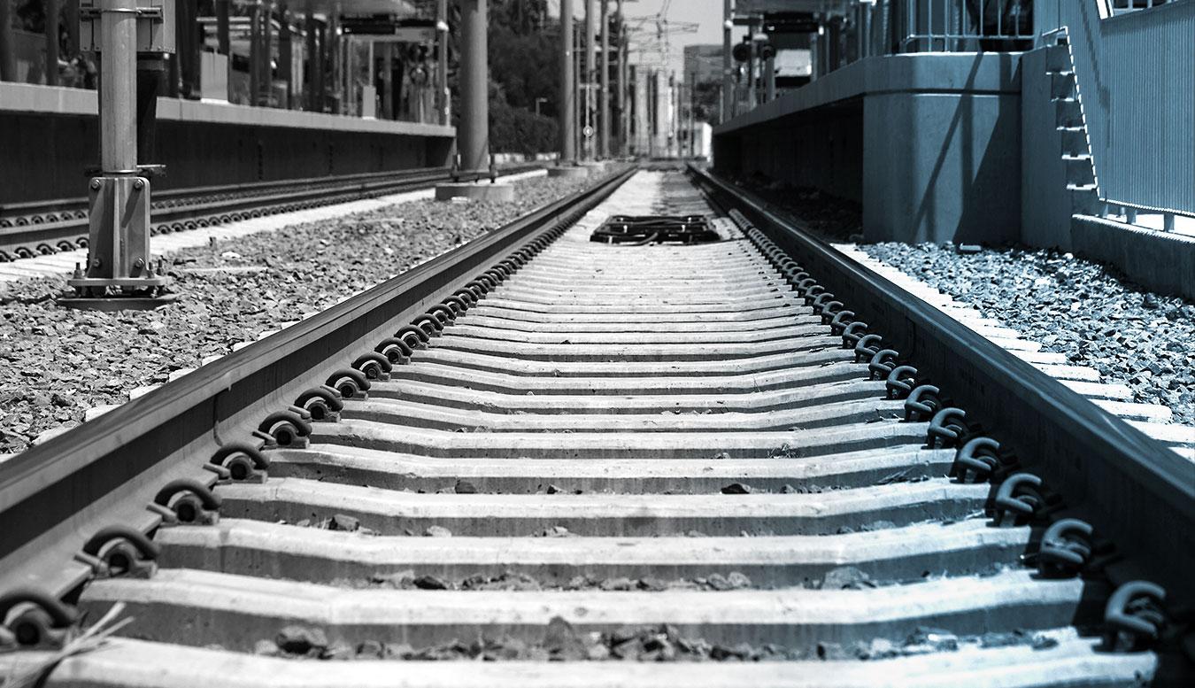 Rail tracks in Los Angeles