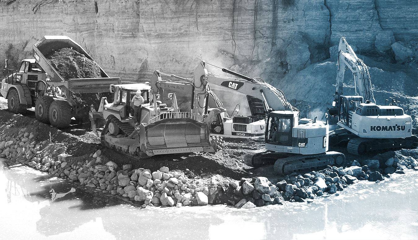 An in-progress construction site in FHWA's Central Federal Lands region