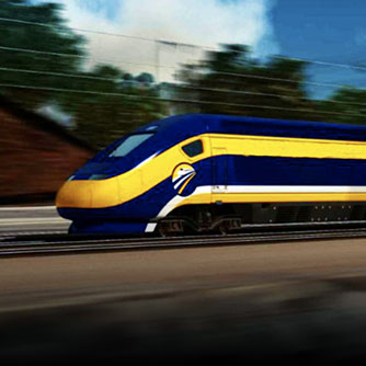 The future California High-Speed Rail train. Click for more information on our work on this project.