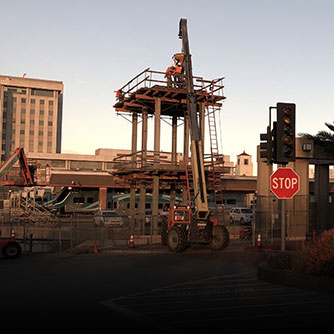 Jobsite at the LA Metro Union Station/Patsaouras Busway design-build project. Click for more information.