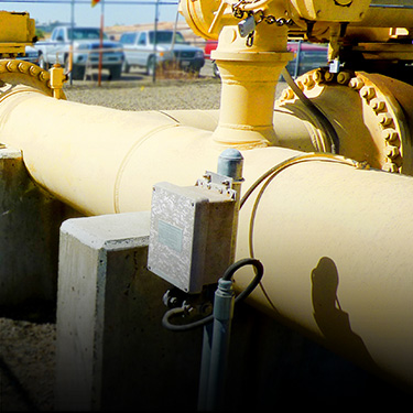 Water pipeline at a jobsite (Click for more info on our work in the water sector)