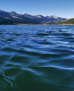 Vallecito Lake from the water