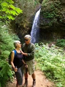 Jacqueline Abel enjoying retirement with her husband, Chris Robertson