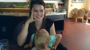 That time I was too tired to cook so I took my kid to a diner. Here is AG eating with her face and I was just too tired to care.