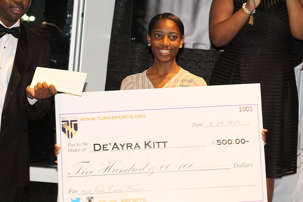 De'Ayra Kitt- 1st place video essay winner with $500 check